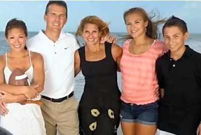 Shelley Meyer with her spouse Urban Meyer and children Gisela, Nicole, and Nathan
