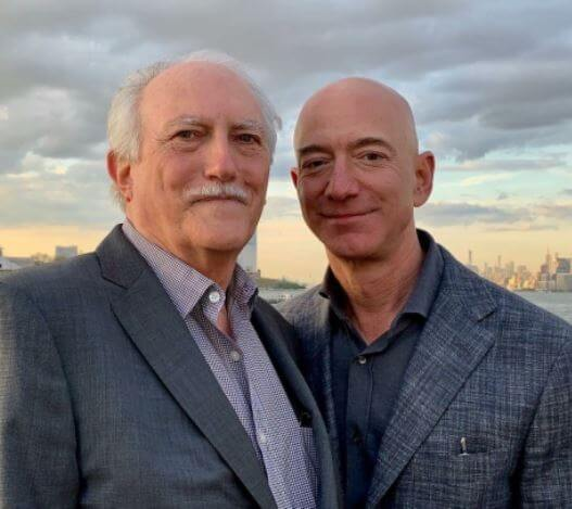 Jeff Bezos with his stepfather Miguel Bezos.