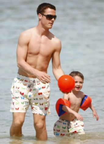 Murphy Parker with his father Scott Parker.