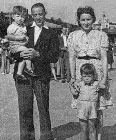 Jim Mac with his first wife Mary McCartney and kids Paul McCartney and Mike McCarthy