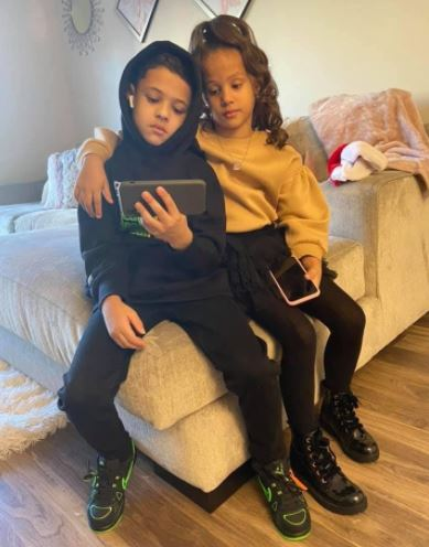 Nicole Covone's kids Angelo Banks and Bella Banks