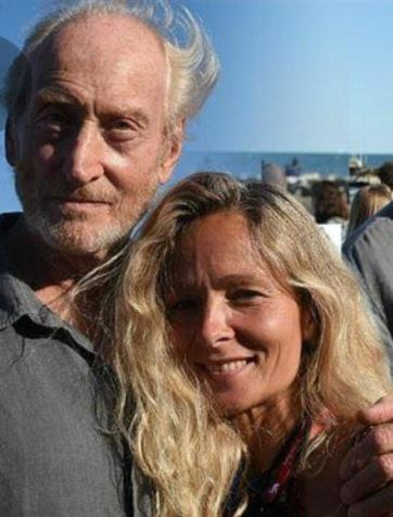 Eleanor Boorman ex fiance Charles Dance with his girlfriend Alessandra in Venice.