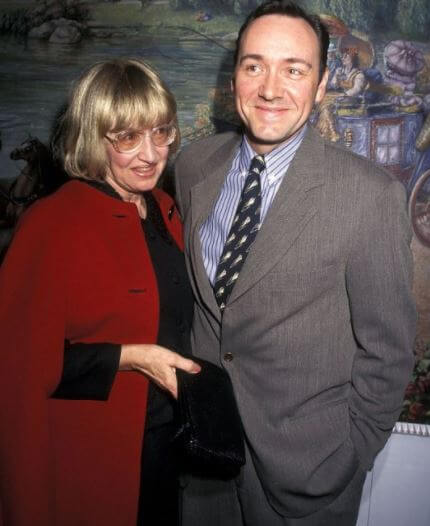 Kathleen Fowler with her son Kevin Spacey.