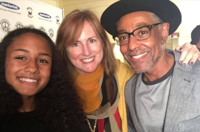 Joy McManigal with her ex husband Giancarlo Esposito and daughter.