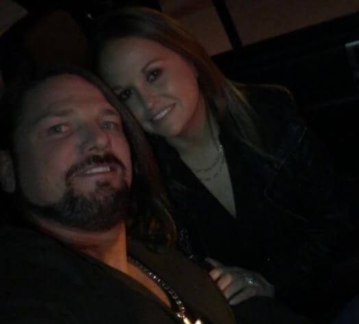 Wendy Etris with her husband A.J. Styles.