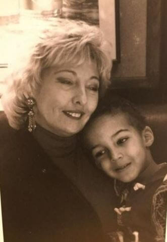 Corinne Gobert with her young son Rudy Gobert.